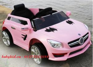 xe ô tô điện cho bé S698 màu hồng mới