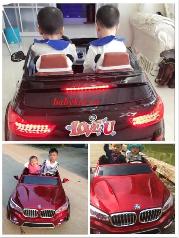 xe ô tô điện trẻ em A998 2 chỗ ngồi rộng