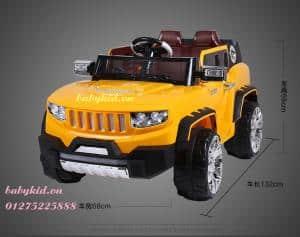 xe ô tô điện trẻ em HSD-8101 màu cam