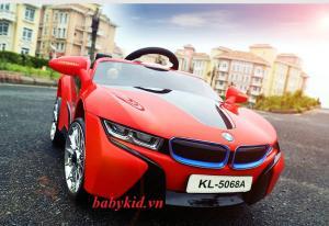 xe ô tô điện trẻ em KL-5068A màu đỏ