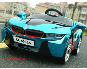 xe ô tô điện trẻ em KL-5068A màu trắng giá rẻ mẫu mới