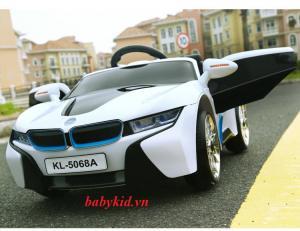 Xe ô tô điện trẻ em KL-5068A màu trắng mẫu mới