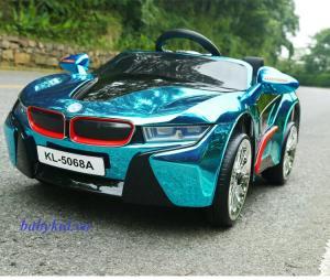 xe ô tô điện trẻ em KL-5068A màu xanh