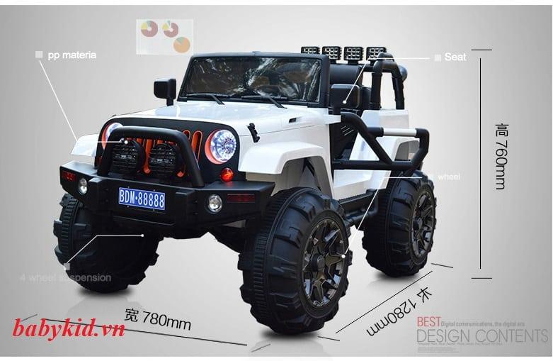 xe ô tô điện trẻ em MDB-8888 mẫu mới