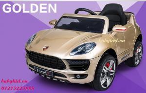 xe ô tô điện trẻ em WTM-5188 màu vàng đồng có bàn ăn