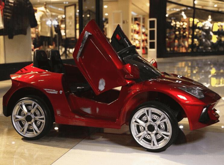 Xe ô tô điện trẻ em Lamboghini BBH-718 màu đỏ mận