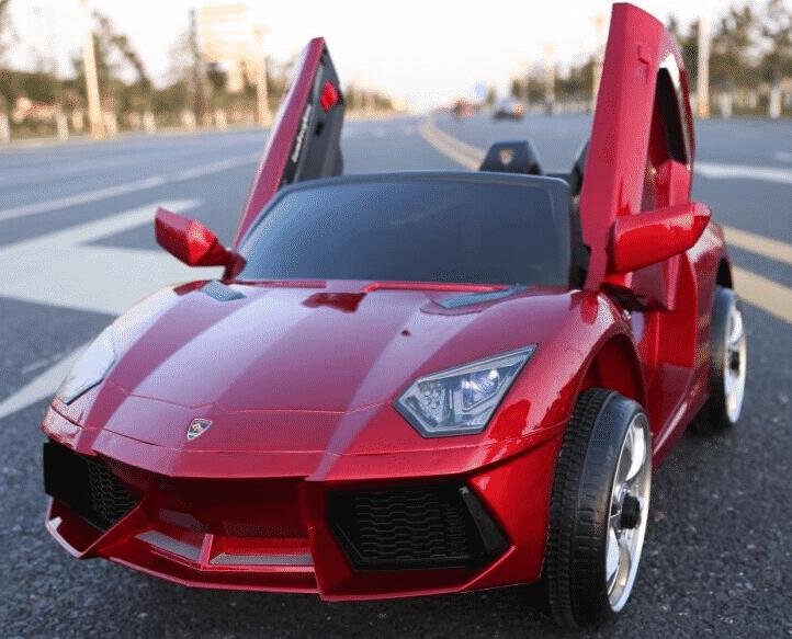 Xe ô tô điện trẻ em Lamboghini BBH-718 màu đỏ mận.