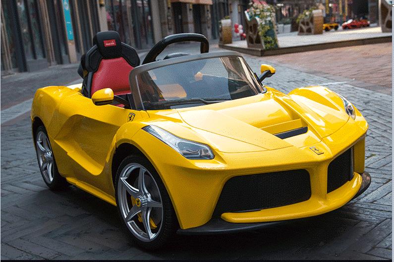 Xe ô tô điện trẻ em LaFerrari F01 màu vàng8