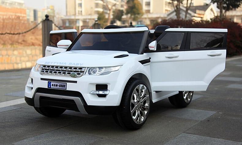 Xe ô tô điện trẻ em Rangrover màu trắng2