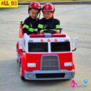 Xe điện trẻ em cứu hỏa LL 911 có bộ đàm